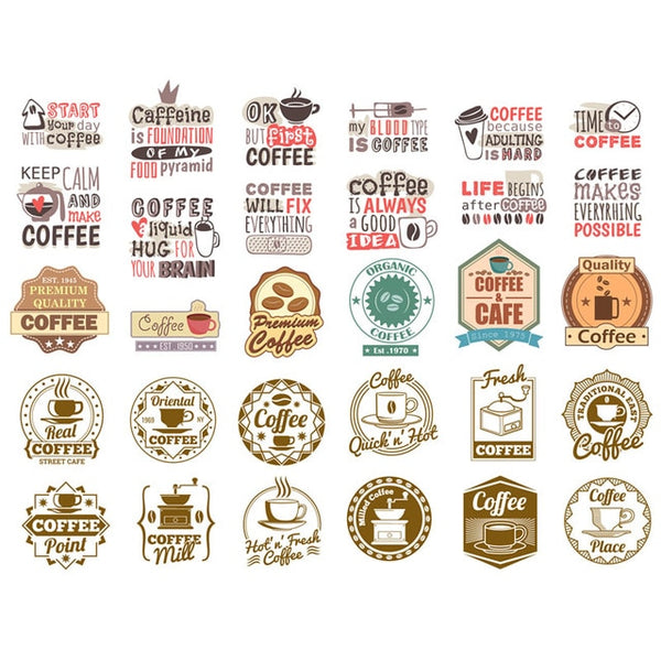 Coffee Stickers (C)