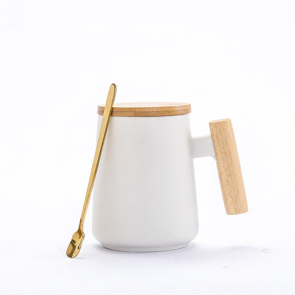 Ceramic Mug with Spoon & Lid (Gaia)