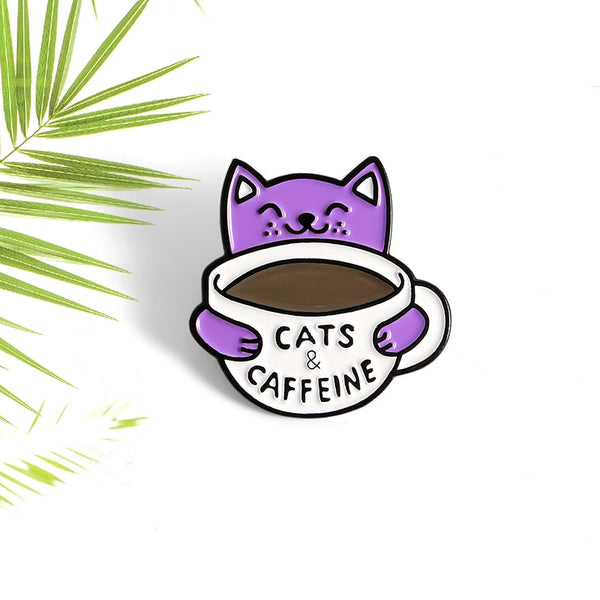Cats and Caffeine Pin