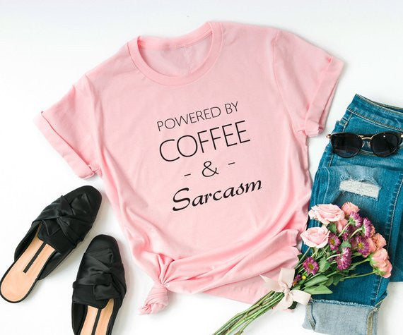 Powered by Coffee & Sarcasm T-Shirt