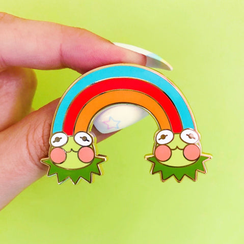 Rainbow Connection Enamel Pin