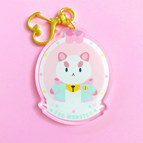Bee and Puppycat Acrylic Keychain