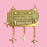 Admit One Ticket Enamel Pin