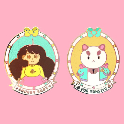 Bee and Puppycat Enamel Pin Set