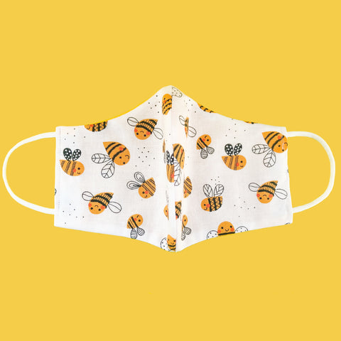 Busy Bee Cotton Face Mask