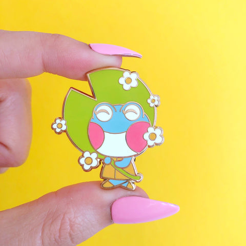Happy Go Lily Enamel Pin