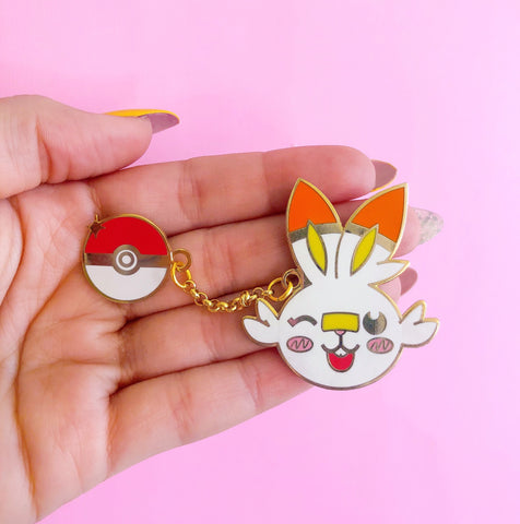 I Choose Scorbunny Enamel Pin
