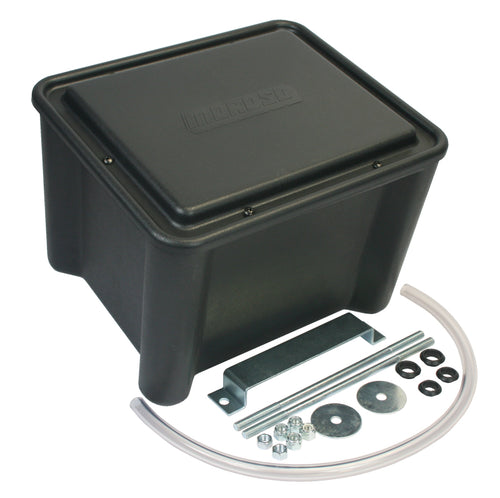 Moroso Sealed Battery Box Black w/Mounting Hardware - Black