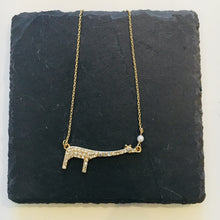 Load image into Gallery viewer, MIRANDA Pave Giraffe Pendant Necklace