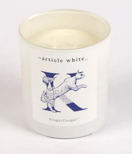 KrugerCougar Double Wick Candle by Article White