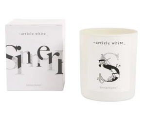 SinnerHymm Double Wick Candle by Article White