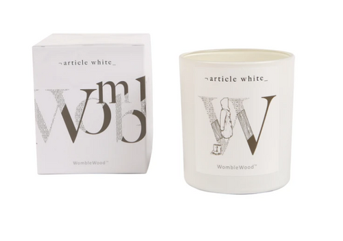 Womblewood Double Wick Candle by Article White