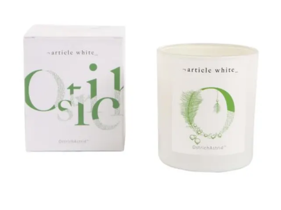 OstrichAstrid Double Wick Candle by Article White