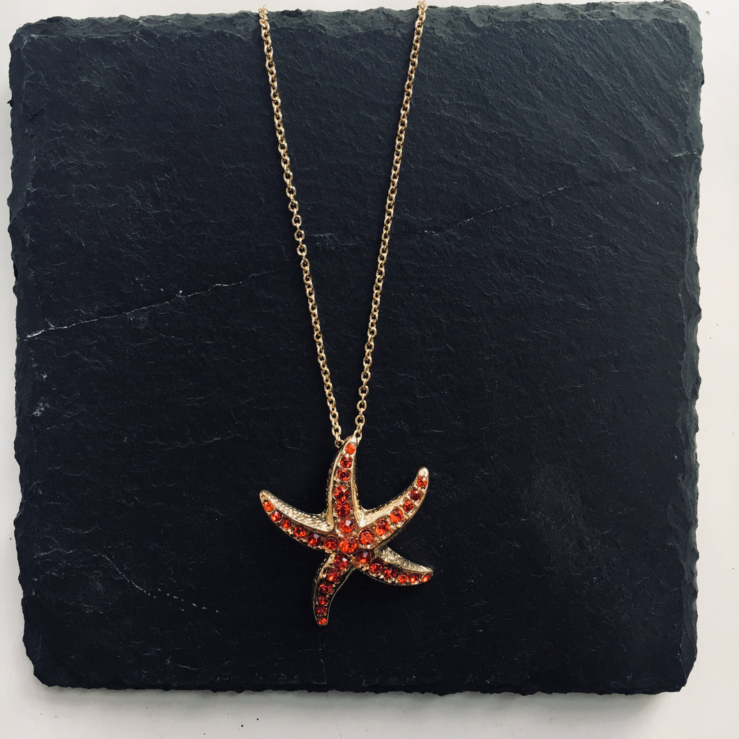 STROMA Pave Starfish Necklace