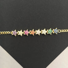 Load image into Gallery viewer, SUMMER Rainbow Star Bracelet