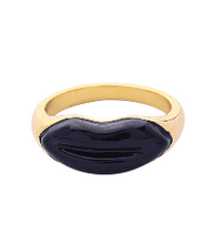Load image into Gallery viewer, CAMILA Black Lips Enamel Ring
