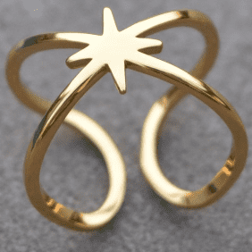 LOTTIE Double Star Ring