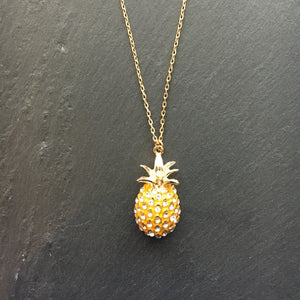 CLEMENCE Pineapple Pave Pendant Necklace