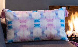 ROSIE Soft Print Tasselled Cushion