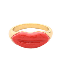 Load image into Gallery viewer, ELLA Red Lips Enamel Ring