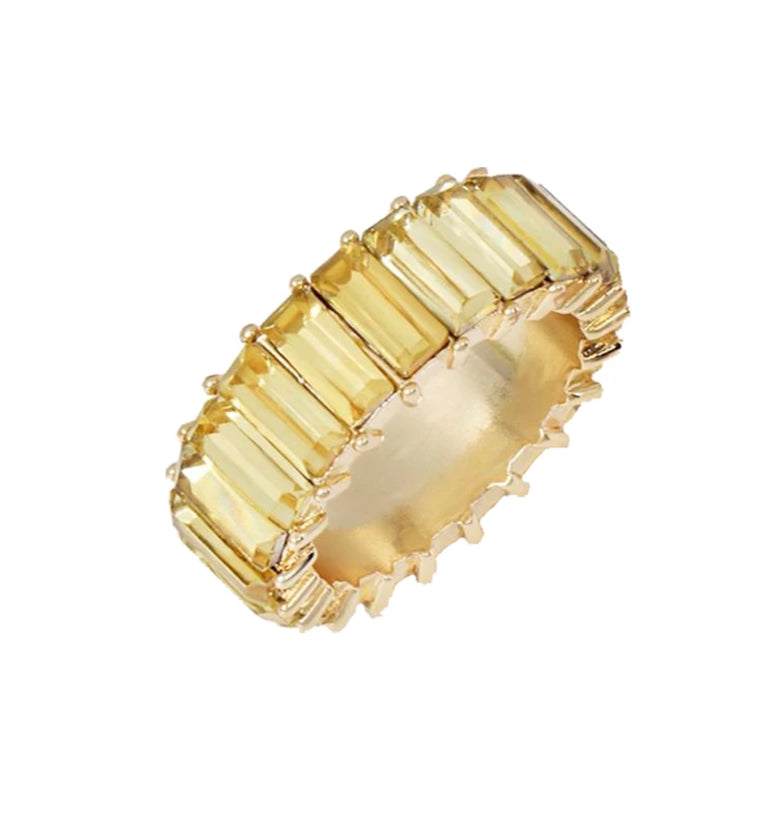 YELLOW ZIRCONIA RING