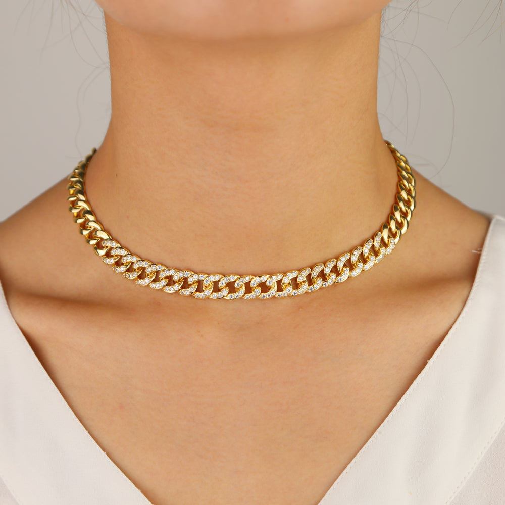 MICRO PAVE GOLD CUBAN CHAIN
