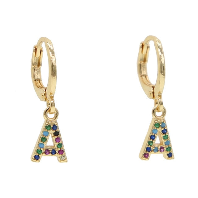 A-ALPHABET RAINBOW EARRINGS