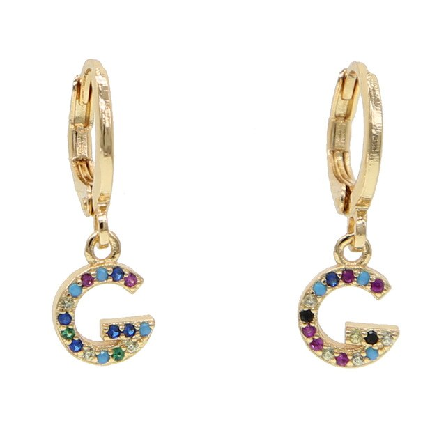 G-ALPHABET RAINBOW EARRINGS
