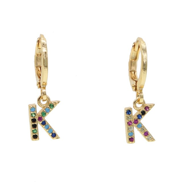 K-ALPHABET RAINBOW EARRINGS
