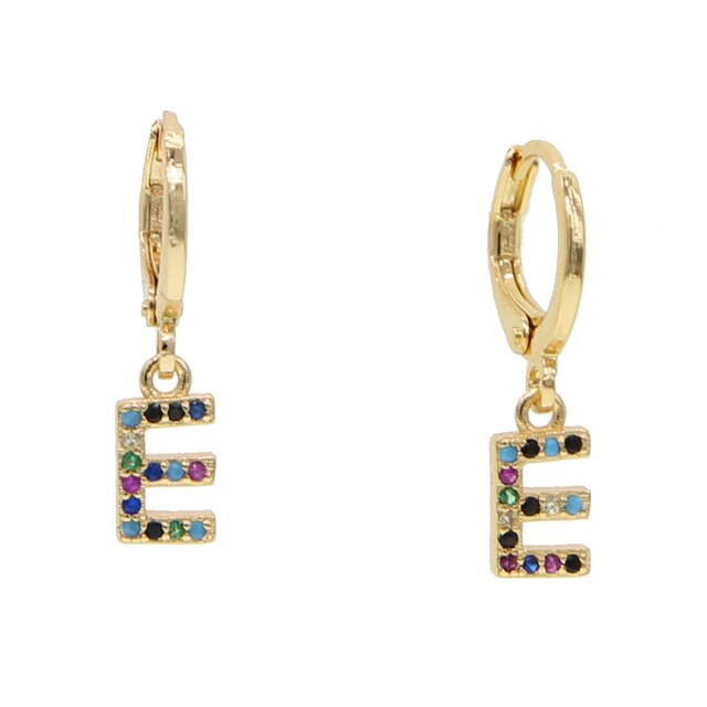 E-ALPHABET RAINBOW EARRINGS