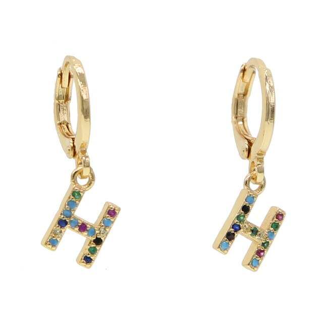 H-ALPHABET RAINBOW EARRINGS