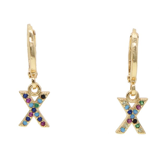 X-ALPHABET RAINBOW EARRINGS