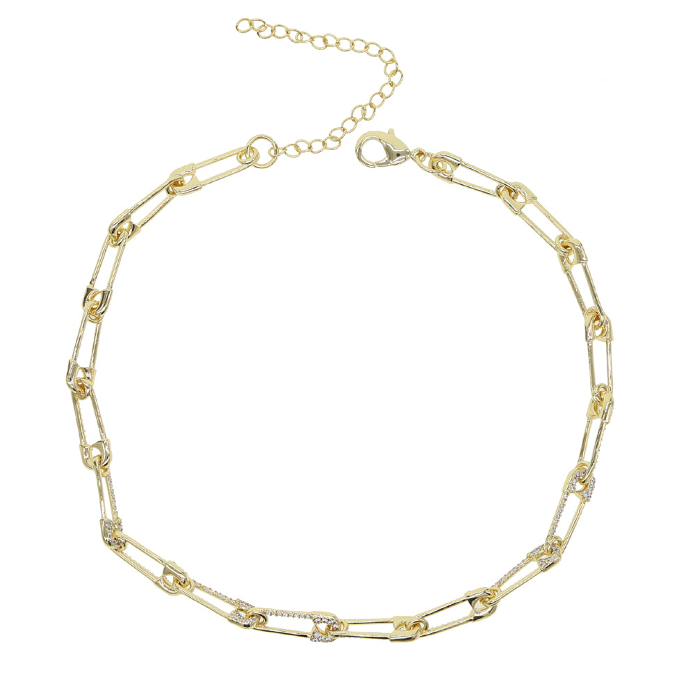 PIN LINK CHAIN NECKLACE