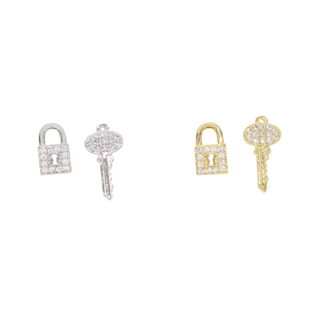 KEY LOCK STUD EARRINGS
