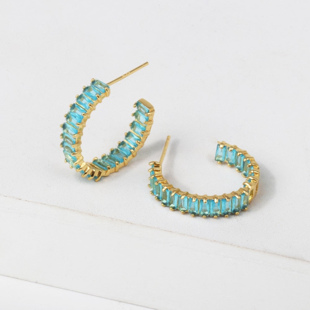 BLUE LOVELY EARRING
