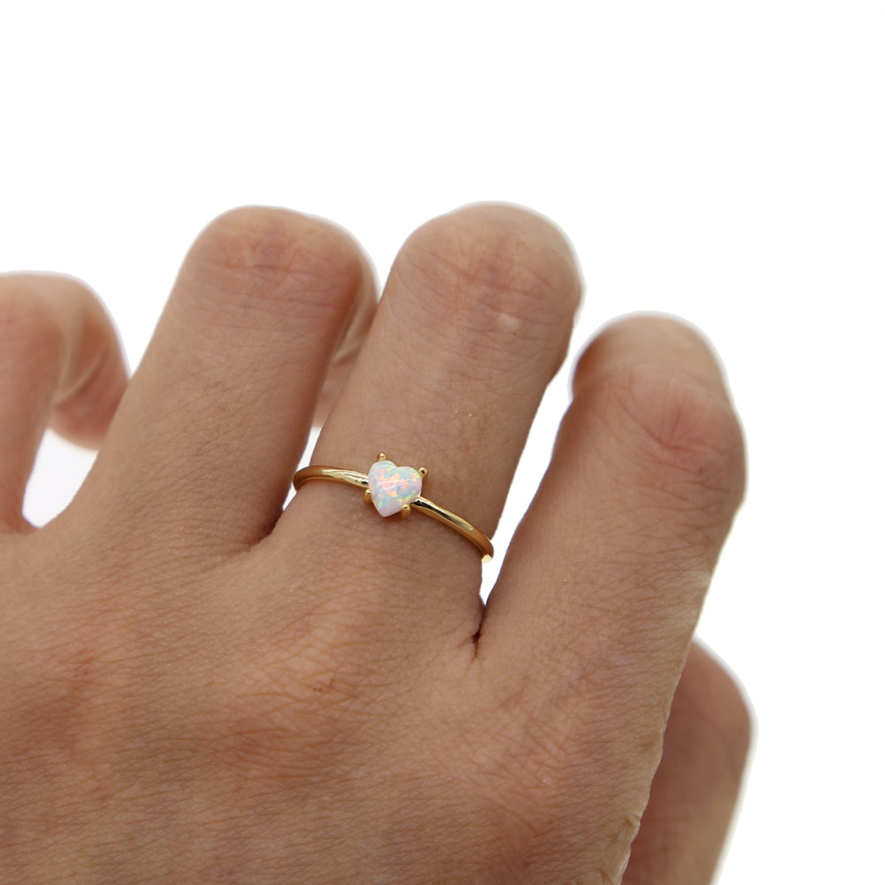 TINY HEART LOVE RING