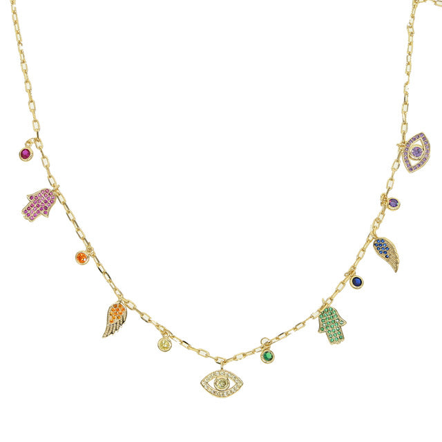 COLORFUL CHARM CHOKER