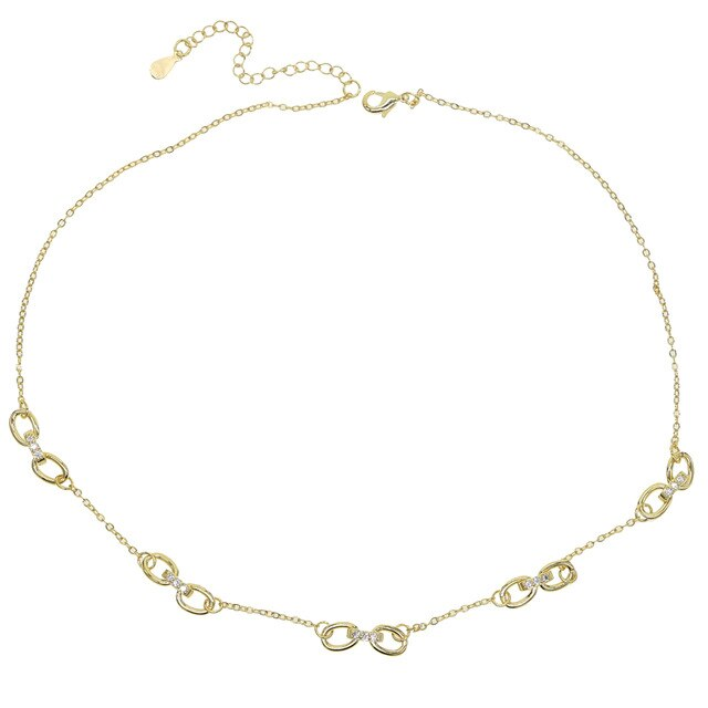 GOLD CIRCLE LINK  CHAIN