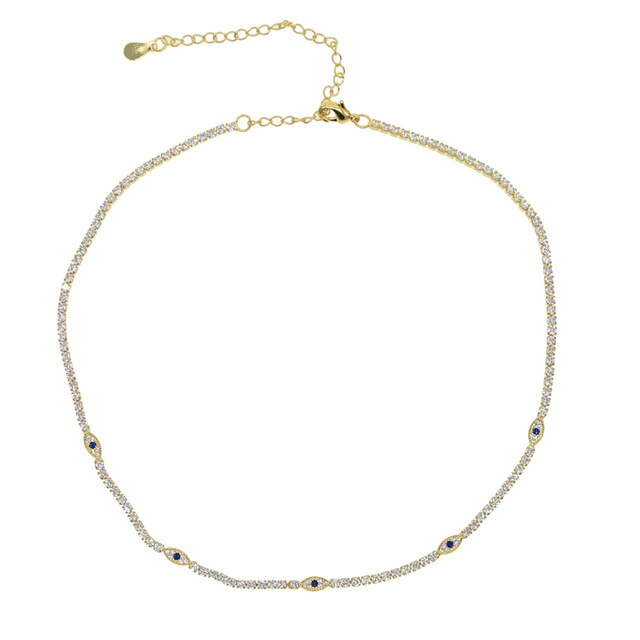 GOLD EYE CHOKER