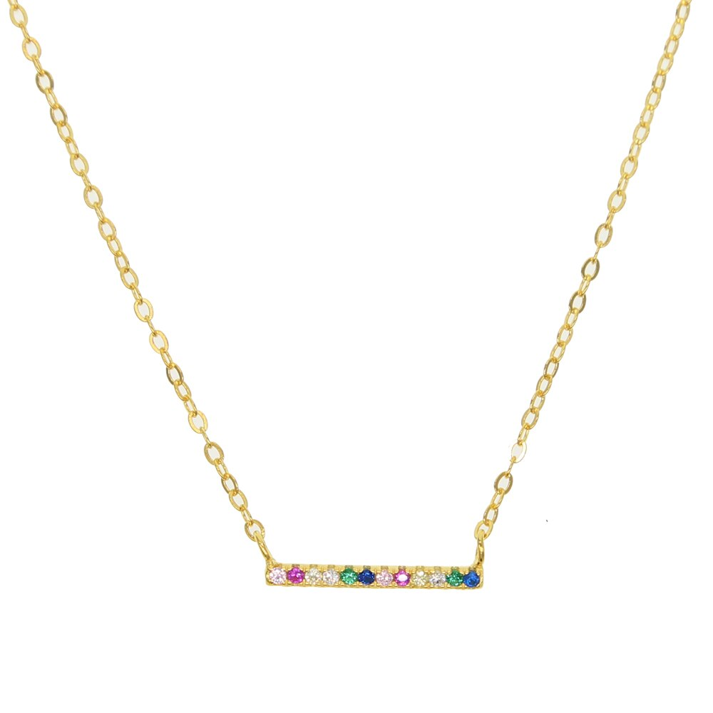 GOLD SIMPLE RAINBOW NECKLACE