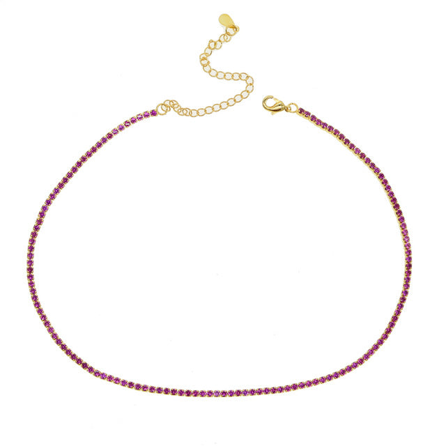GOLDEN RED COLOR NECKLACE