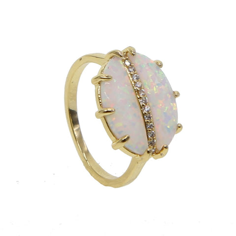 NATURAL CRYSTAL STONE RING
