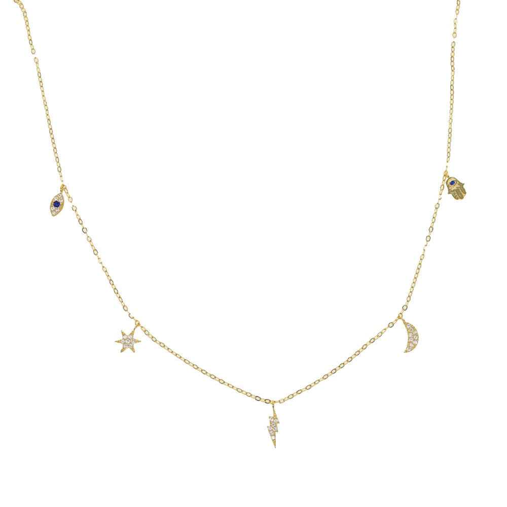 HAMSA GOLD NECKLACE