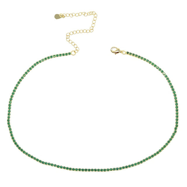 GOLDEN GREEN COLOR NECKLACE
