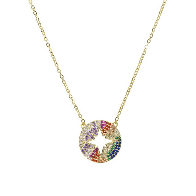 SHINY RAINBOW STAR NECKLACE