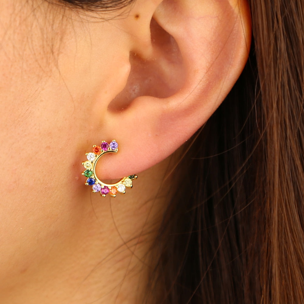 GEOMETRIC RAINBOW EARRINGS