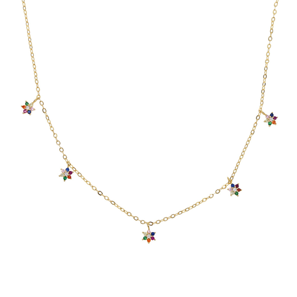 RAINBOW FLOWERS NECKLACE