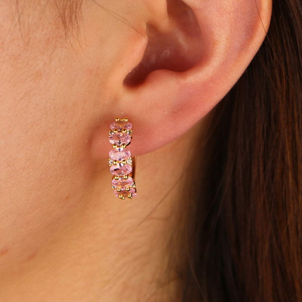 PINK ZIRCON EARRINGS
