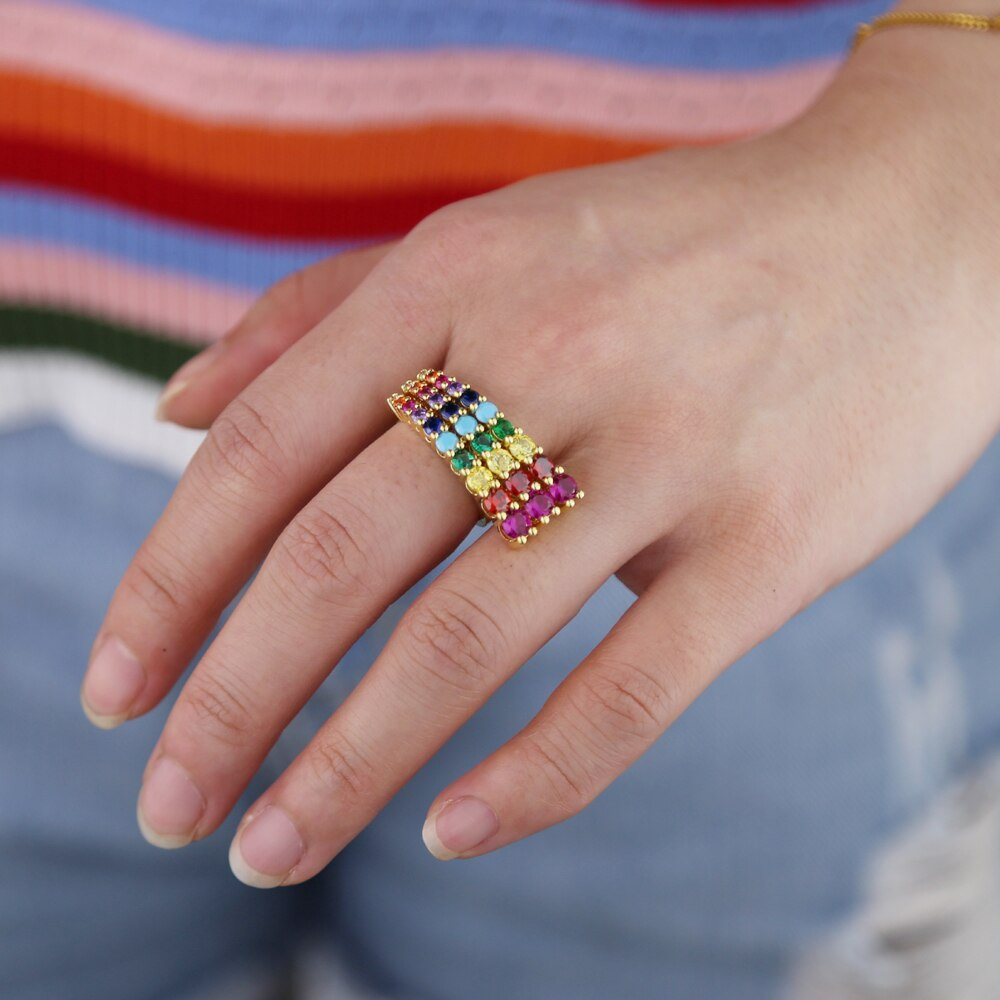 BIG RAINBOW RING