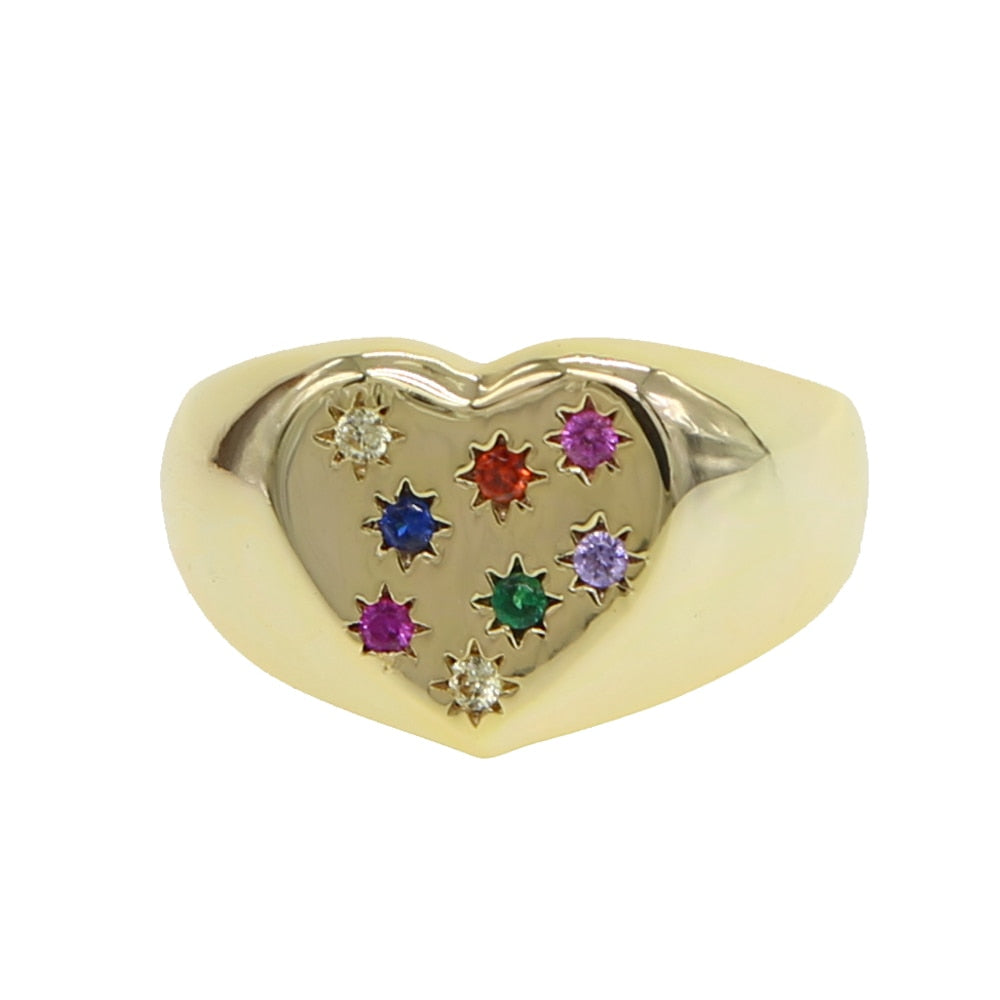 HEART STAR RING